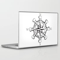 compass Laptop & iPad Skins featuring Compass by Mady Guzman
