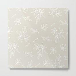 Branched Olives Sketch Metal Print