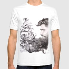 Sailor's Beard White Mens Fitted Tee X-LARGE