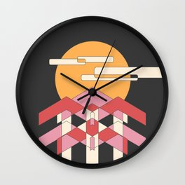 View From the Forest at Night Wall Clock