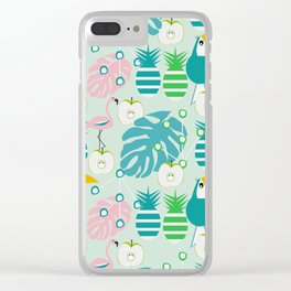 Modern tropical summer vibes Clear iPhone Case