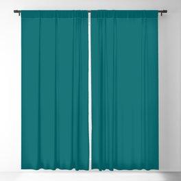 Solid Color Pantone Deep Lake 18-4834 Green Aqua Blue Blackout Curtain