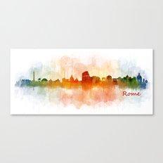 Rome city skyline HQ v03 Canvas Print