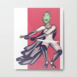 Princess Warrior Metal Print