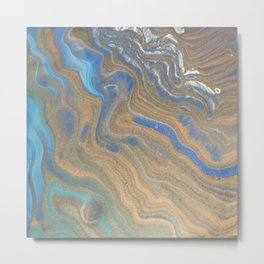 blue and copper 352 Metal Print