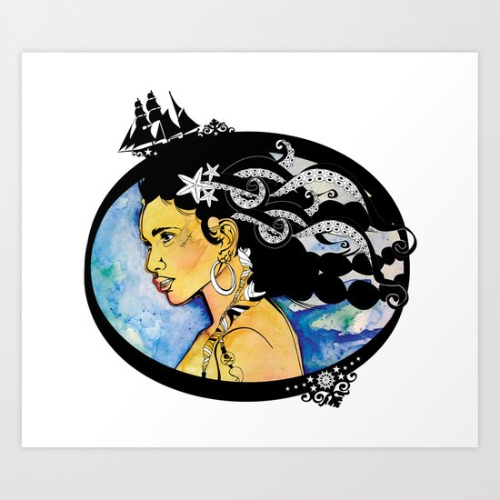 Pirate Nereid - Color Art Print