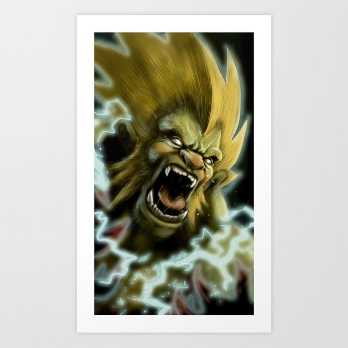 Blanka, Brazilian Street Fighter- Desafío52 Art Print