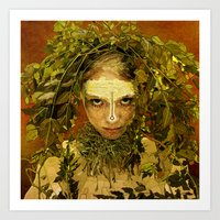 pagan Art Prints featuring Pagan by Charlie Terrell