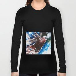 Deer - Valentine - animal by LiliFlore Long Sleeve T-shirt