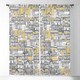 Paris toile gold Blackout Curtain