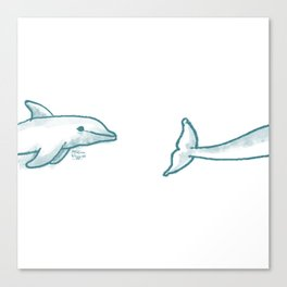 Dolphine Love Canvas Print