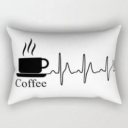 Cardiac Coffee Rectangular Pillow