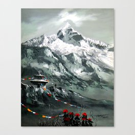 Panoramic View Of Mountain Everest Canvas Print
