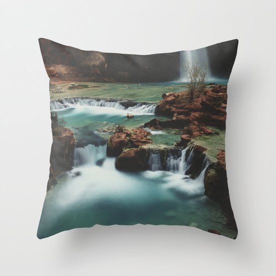 Havasu Falls Throw Pillow