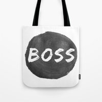 boss Tote Bags featuring Boss by autumnstar09