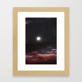 Dawn's moon Framed Art Print