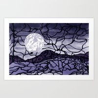 cracked Art Prints featuring Cracked by Mel Moongazer