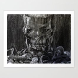 Death Smokes Art Print