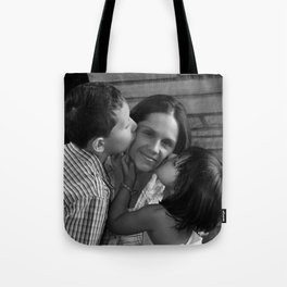 Tender Moments Between A Mother And Her Children Tote Bag