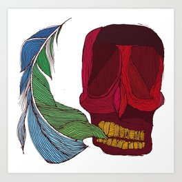 feathskull Art Print