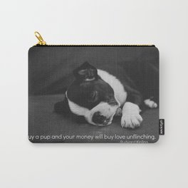 Puppy Love Rudyard Kipling Quote Carry-All Pouch