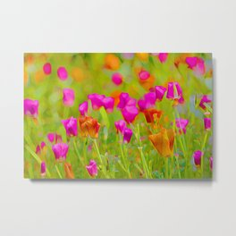 The Poppies Metal Print