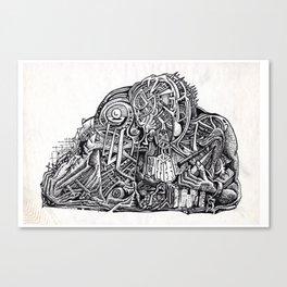 Psycho Warrior, by Brian Benson Canvas Print