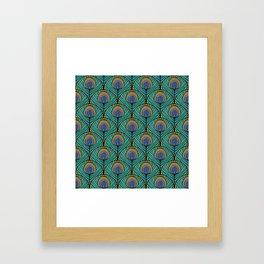 Glitzy Peacock Feathers Framed Art Print