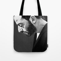 leon Tote Bags featuring Leon by Ruben Ireland