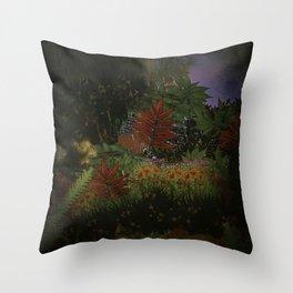 The Mystical Garden Throw Pillow