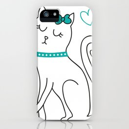 cat sweet iPhone Case