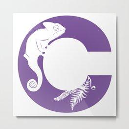 C is for Chameleon - Animal Alphabet Series Metal Print