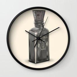 "Snake Oil ""Cure All Ailments"" Bottle Wall Clock"