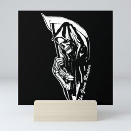 MAKE THIS OCTOBER AND HALLOWEEN A SCREAM WITH THE GRIM REAPER Mini Art Print