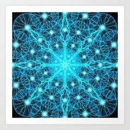 Electric Universe Mandala Art Print