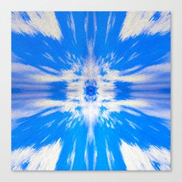 255 - Abstract Blue Design Canvas Print