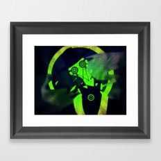 Green At Midnight Framed Art Print