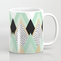 queen Mugs featuring Queen by Elisabeth Fredriksson