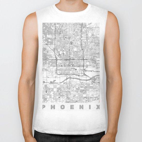 Phoenix City Map Line Biker Tank