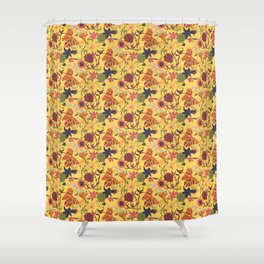 Maximalist - floral - yellow Shower Curtain