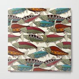 Alaskan salmon pearl Metal Print