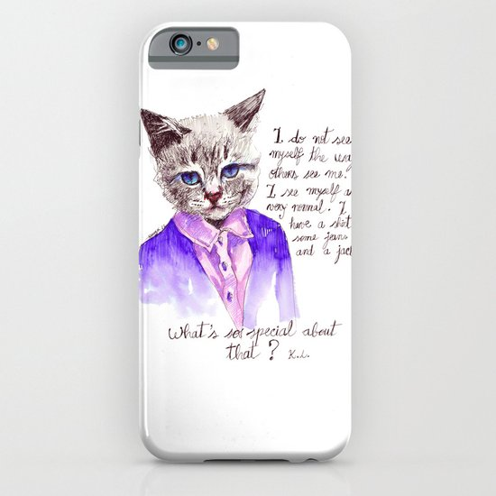 Fashion Mr. Cat Karl Lagerfeld and Chanel iPhone & iPod Case