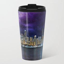 Spacey Chicago Skyline Travel Mug