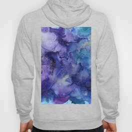 Abstract Watercolor and Ink Hoody
