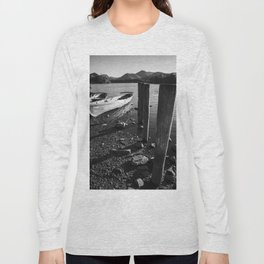 rowing boats on derwentwater Long Sleeve T-shirt