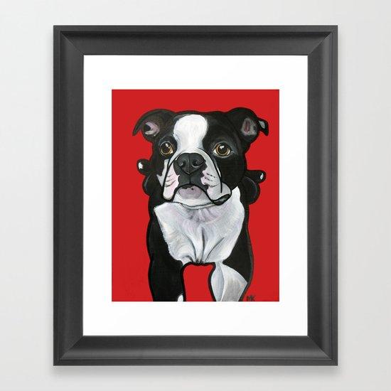 Bobo the Boston terrier Framed Art Print