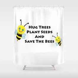 SaveThe Bees Shower Curtain