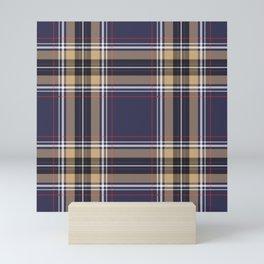 Tartan Seamless Pattern - A funny gift for someone who loves Outlander,  Scotland, Scottish Clan Tartan and Celtic music Mini Art Print