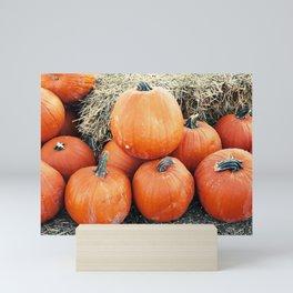 Vintage Pumpkin Pile Mini Art Print