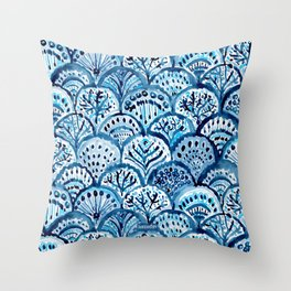 DEEP LIFE Mermaid Scales Throw Pillow